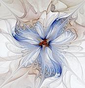 Apophysis Digital Art Prints - Cornflower blues Print by Amanda Moore