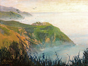 Tuscany Vineyard Oil Paintings - Corniglia Cinque Terre Italy I by Christopher Clark