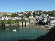 England Art - Cornish Fishing Village Of Port Isaac, Cornwall by Thepurpledoor