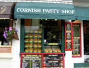 Edible Posters - Cornish Pasty Shop Poster by Kurt Van Wagner