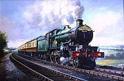 Railway Paintings - Cornish Riviera Express. by Mike  Jeffries