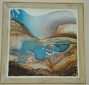 Organic Reliefs Framed Prints - Cornish Vibe Framed Print by Amy Jo