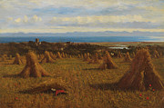 Harvest Paintings - Cornstooks by JM Barber