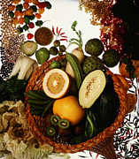 Cornucopia Prints - Cornucopia Of Exotic Fruit Print by Photo Researchers
