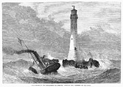 Lighthouse Landing Framed Prints - Cornwall: Lighthouse, 1870 Framed Print by Granger
