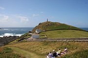 Cape Cornwall Prints - Cornwall picnic Print by Ed Lukas