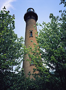 Beach Scenes Photos - Corolla Or Currituck Beach Lighthouse by Vlad Kharitonov