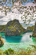 Green Hills Prints - Coron lagoon Print by MotHaiBaPhoto Prints