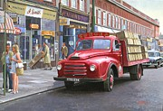 Streetscene Paintings - Corona drinks lorry. by Mike  Jeffries