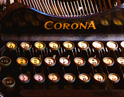Typewriter Keys Framed Prints - Corona Framed Print by Timothy Bulone