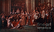 Napoleon Bonaparte Prints - Coronation Of Napoleon, 1804 Print by Photo Researchers