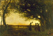 Pleasures Prints - Corot: Evening, 1875 Print by Granger