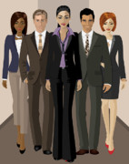 Fashion Posters - Corporate Poster by Amy De Wolfe