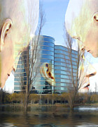 Heads Digital Art Prints - Corporate Cloning Print by Kurt Van Wagner