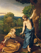 Knelt Paintings - Correggio by Noli Me Tangere