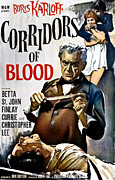 Jbp10ma14 Photo Framed Prints - Corridors Of Blood, Boris Karloff, 1958 Framed Print by Everett