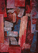 Red Roof Mixed Media Prints - Corrugated Print by Stephen Roberson