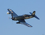 Bomber Escort Photo Framed Prints - Corsair 05 Framed Print by Jeff Stallard