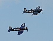 Bomber Escort Photo Framed Prints - Corsair 08 Framed Print by Jeff Stallard