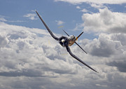 Korea Digital Art Prints - Corsair F4U-N Print by Pat Speirs