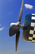 Matte Print Prints - Corsair Fighter Propeller Print by M K  Miller