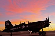 Field Digital Art Originals - Corsair Sunset at Reno by Gus McCrea