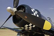 Matte Print Prints - Corsair Up Close WWII Print by M K  Miller