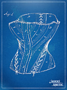 Fashionista Posters - Corset Patent Series 1884 Poster by Nikki Marie Smith