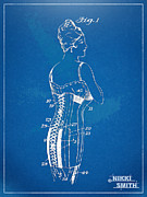Fashionista Posters - Corset Patent Series 1924 Poster by Nikki Marie Smith