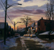 Streetscape Paintings - Corson Avenue - February by Sarah Yuster