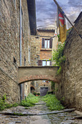 Medieval City Framed Prints - Cortona Alleyway Framed Print by Al Hurley