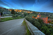 Etruscan Prints - Cortona at dusk 2 Print by Al Hurley