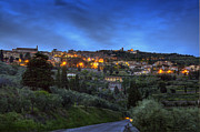 Etruscan Prints - Cortona at dusk Print by Al Hurley