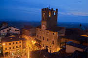 Hilltown Framed Prints - Cortona at night 3 Framed Print by Al Hurley
