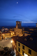 Hilltown Framed Prints - Cortona at night 4 Framed Print by Al Hurley