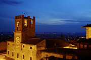 Hilltown Framed Prints - Cortona at night 5 Framed Print by Al Hurley