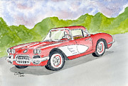 Classic Cars Originals - Corvette 50s by Eva Ason