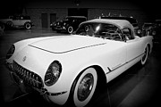 Car Auction Framed Prints - Corvette 55 Convertible Framed Print by Susanne Van Hulst