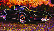 Corvette Stingray Framed Prints - Corvette Beauty Framed Print by Stephen Anderson