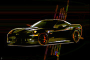2012 Digital Art - Corvette by Byron Fli Walker