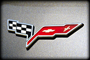 Checker Flag Framed Prints - Corvette Flags Framed Print by Ricky Barnard
