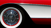 1956 Chevy Corvette Framed Prints - Corvette Framed Print by Jeff Lowe