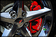 Acrylic Sports Framed Prints - Corvette Spokes Framed Print by Ricky Barnard