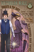 Cravat Digital Art Posters - Cosets and Top Hats Poster by Dani Kaulakis