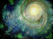New Art Pastels Prints - Cosmic Breath Print by Rena Marzouk