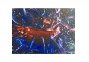 Ark Mixed Media Posters - Cosmic Explosion Poster by Pamela Whitlock-Smith