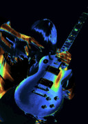 Rock Photos Posters - Cosmic Rock Guitar Poster by Ben Upham