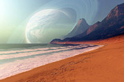 Earth Digital Art - Cosmic Seascape On An Alien Planet by Corey Ford