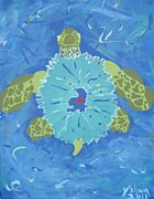 The Universe Paintings - Cosmic Turtle by Yshua The Painter