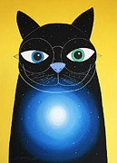 Chat Metal Prints - Cosmo Metal Print by Chris Mackie